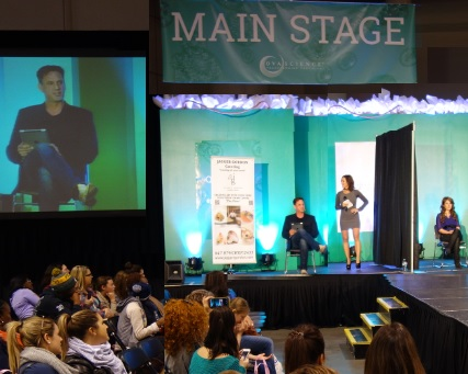 Laura on the main stage of National Womans Show