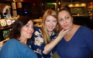 Laura Bilotta, with Raymi the Minx, and Fatima from Basso Pizzeria