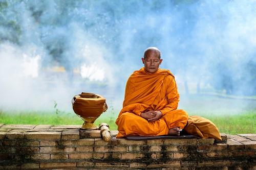 Asian monk.