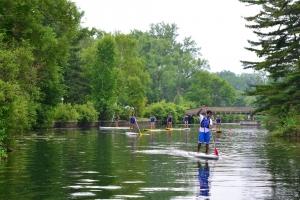 Paddle boarding at Toronto Island