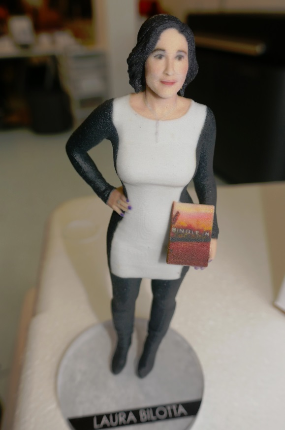 3D printed six inch tall figurine
