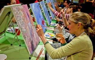 wing woman paint night with single in the city