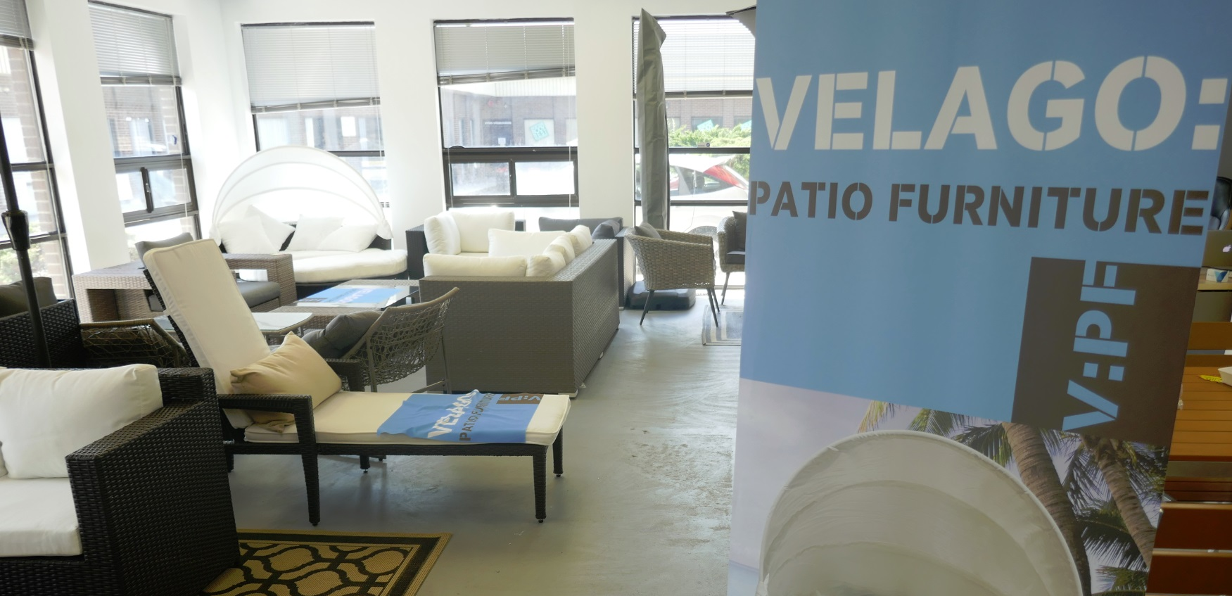 Velago Patio Furniture showroom in Etobicoke